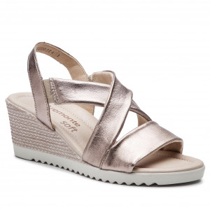 SilberPlatin Sandals BY Wedges RIEKER REMONTE Mules D3449 90 vOmN08nw