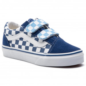 efe35b4f3a1 Plimsolls VANS Old Skool V VN0A38HDVDX1 (Checkerboard) True Navy