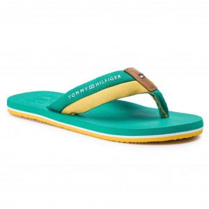 4888f65e061 Slides TOMMY HILFIGER - Embossed The Beach Sandal FM0FM02088 Pepper Green  319