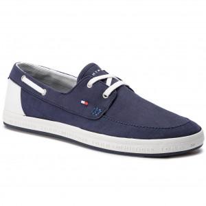 44064ab23f Moccasins TOMMY HILFIGER Seasonal Core Boat Shoe Sneaker FM0FM02205 Midnight  403
