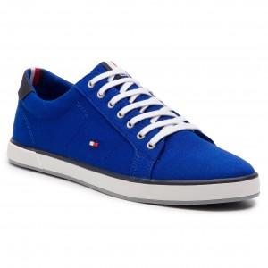 6b0125b9b7 Plimsolls TOMMY HILFIGER Iconic Long Lace Sneaker FM0FM01536 Mazarine Blue  440