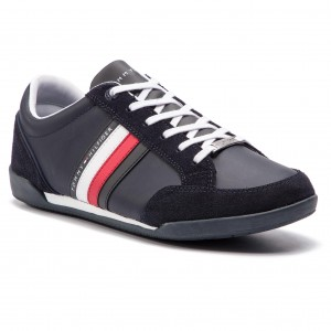 61b514c24843d Sneakers TOMMY HILFIGER - Corporate Material Mix Cupsole FM0FM02046  Midnight 403