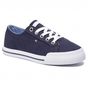 6e13676e37fc Plimsolls TOMMY HILFIGER - Essential Sneaker FW0FW03853 Tommy Navy 406