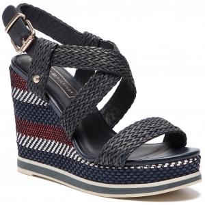 a0f725743e94a2 Sandals TOMMY HILFIGER - Corporate Interwoven High Heel FW0FW02242 ...
