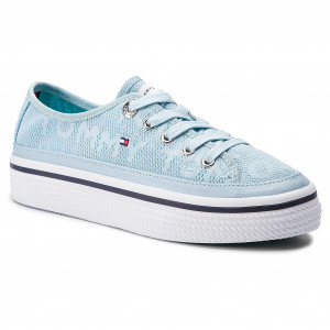 0a553a3184 Plimsolls TOMMY HILFIGER - Tommy Jacquard Flatform Sneaker FW0FW04071  Omphalodes 450