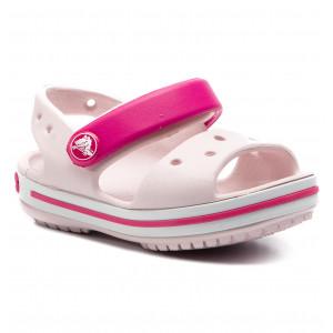 0f6790f20551 Sandals CROCS - Crocband Sandal Kids 12856 Blazing Orange Slate Grey ...