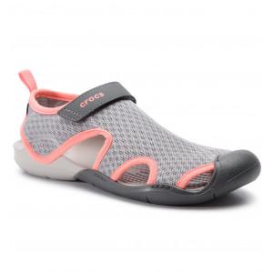 Sandals CROCS Swiftwater Mesh Sandal W 204597 Light Grey