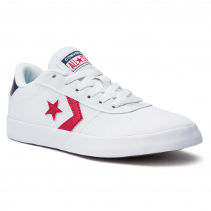 0d6a4ced4418 Plimsolls CONVERSE Converse Point Star Ox 563431C White Enamel Red Navy