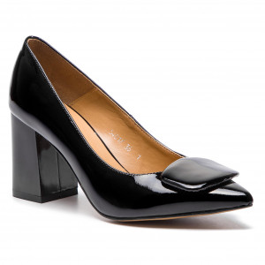 5c531e48 Shoes SAGAN - 3358 Czarny Lico/Srebro - Heels - Low shoes - Women's ...