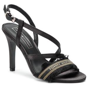 e28202546cfc Sandals TOMMY HILFIGER - Feminine Satin Heeled Sandal FW0FW04161 Black 990