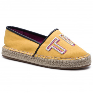 4905183f12d56 Espadrilles TOMMY HILFIGER Colorful Tommy Flat Espadrille FW0FW04166  Spectra Yellow 730