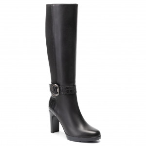Knee High Boots GEOX D Annya H. D D94AED 0436Y C9999 Black