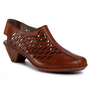 Sandals RIEKER 608B9 45 Grau Casual sandals Sandals RxK8v