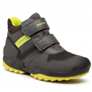 Santo Puede ser calculado Gruñón  Boots GEOX - J N.Savage B. Wpf B J04CBB 0CEFU C1267 S Dk Grey/Lime - Boots  - High boots and others - Boy - Kids' shoes | efootwear.eu