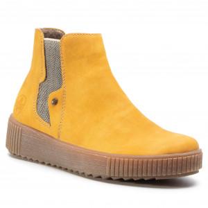 Rieker Y6461 24 Ladies Brown Zip Up Ankle Boots Rieker