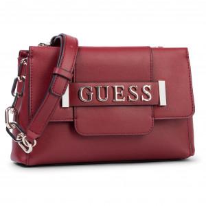 Alma Mini Crossbody Flap red Guess | The Little Green Bag
