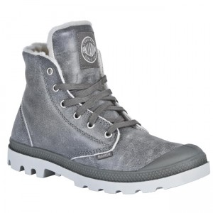Hiking Boots PALLADIUM 02609049 Grey Jackboots High