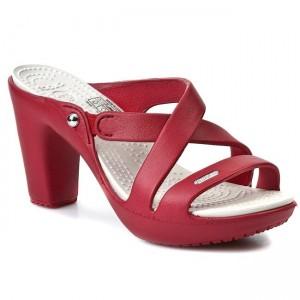 96063156bc4 Slides CROCS - Cyprus IV Heel W 14558 Dark Red/Oyster - Casual ...
