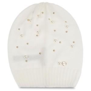 Cap LIU JO - Cappello Maglia Perl N68251 M0300 Bianco Iana 00086 8319aa53dfec