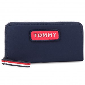 9e6969be25ad6 Large Women s Wallet TOMMY HILFIGER - Classic Th Leather L ...