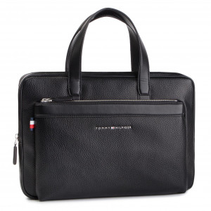 b925bacbbd082 Laptop Bag TOMMY HILFIGER - Th Downtown Slim Computer Bag AM0AM04623 002