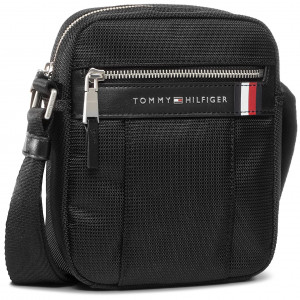 TOMMY HILFIGER Elevated Nylon Mini Reporter Umhängetasche Tasche Black