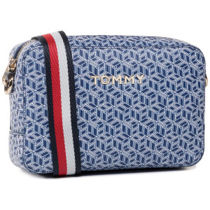 Tommy Hilfiger Iconic Camera Bag Print blau Monogramm Blue