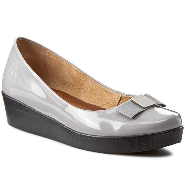 Shoes MACIEJKA - 01942-03/00-5 - Popiel - Wedge-heeled shoes - 01942-03/00-5 Low shoes - Women's shoes bb6baa