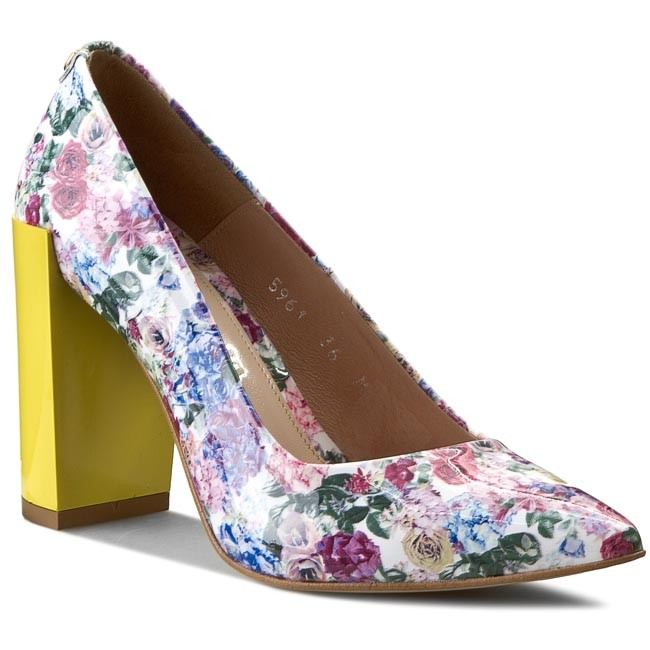Shoes BALDACCINI - 596100-6 - Różyczki Lak/Z/Żółty - Heels - 596100-6 Low shoes - Women's shoes 5b5430