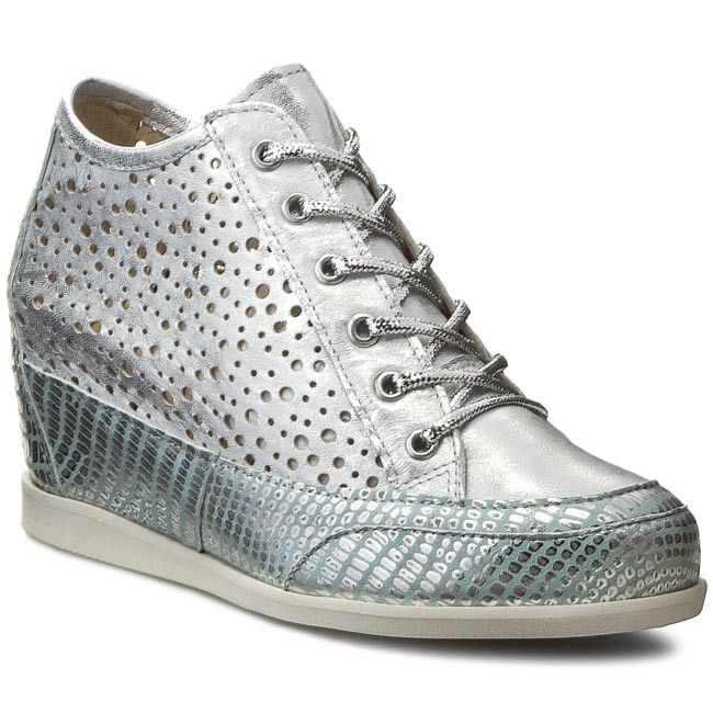Sneakers OLEKSY Wedge-heeled - 1984/A47/963/000/000 Silver - Wedge-heeled OLEKSY shoes - Low shoes - Women's shoes 915c3d