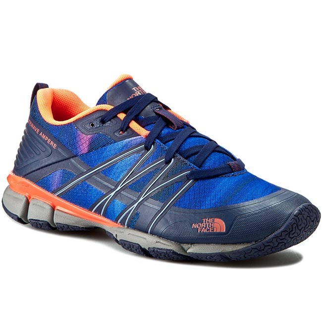 Shoes THE NORTH T0CXU1GSL-050 FACE - Litewave Ampere T0CXU1GSL-050 NORTH Patriot Blue Print/Tropical Coral - Outdoor - Running shoes - Sports shoes - Women's shoes d83497