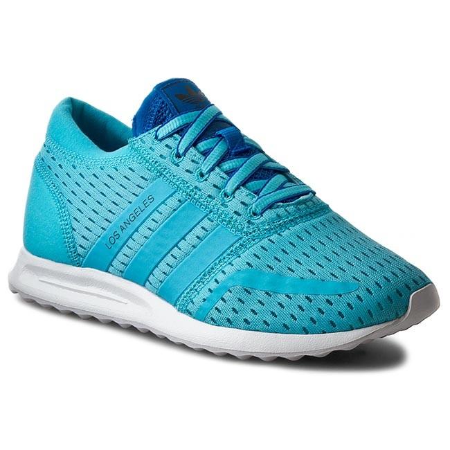 Shoes adidas S75741 - Los Angeles W S75741 adidas Bluglo/Bluglo/Shoblu - Flats - Low shoes - Women's shoes 51c96e