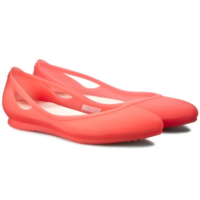 Flats CROCS - Rio Flat W shoes 16265 Coral/Oyster - Ballerina shoes W - Low shoes - Women's shoes 6d4500