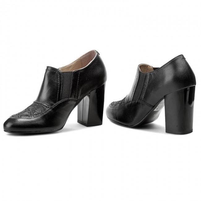 Shoes ANN MEX - 7632 01S+01JD Black - Heels - - - Low shoes - Women's shoes 56c186