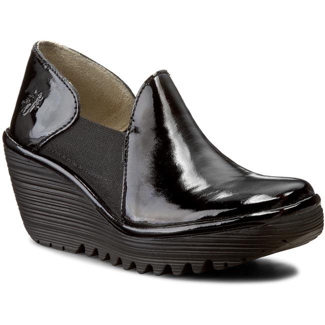 Shoes FLY LONDON - Yua P500578013 Black - Wedge-heeled shoes Women's - Low shoes - Women's shoes shoes 760651