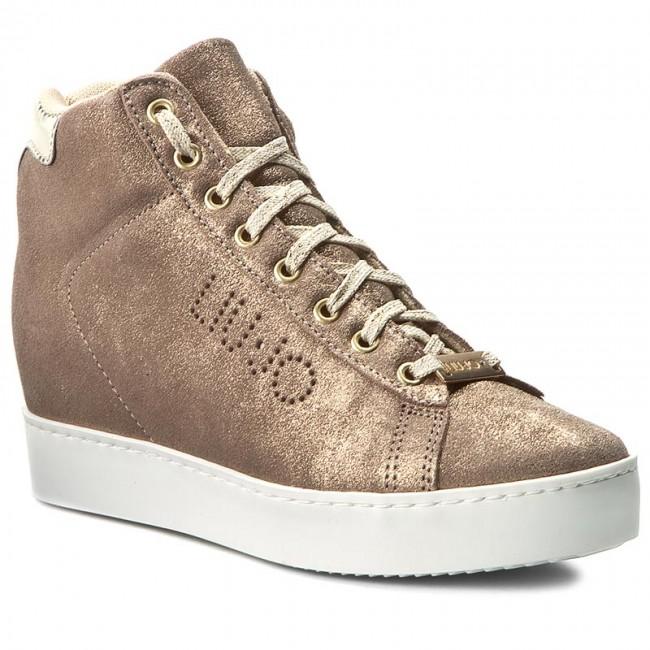 Sneakers Zeppa LIU JO - Sneaker Zeppa Sneakers Caffe S66031 P0257 Nude Met Y9440 - Wedge-heeled shoes - Low shoes - Women's shoes a62a49