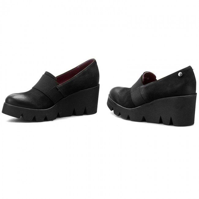 Shoes KARINO - - - 1852/003-P Black - Wedge-heeled shoes - Low shoes - Women's shoes b01237
