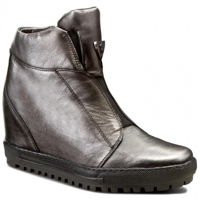 Sneakers EKSBUT Sneakers - 66-4318-E04-1G Czarny/Srebro - Sneakers EKSBUT - Low shoes - Women's shoes 47444c
