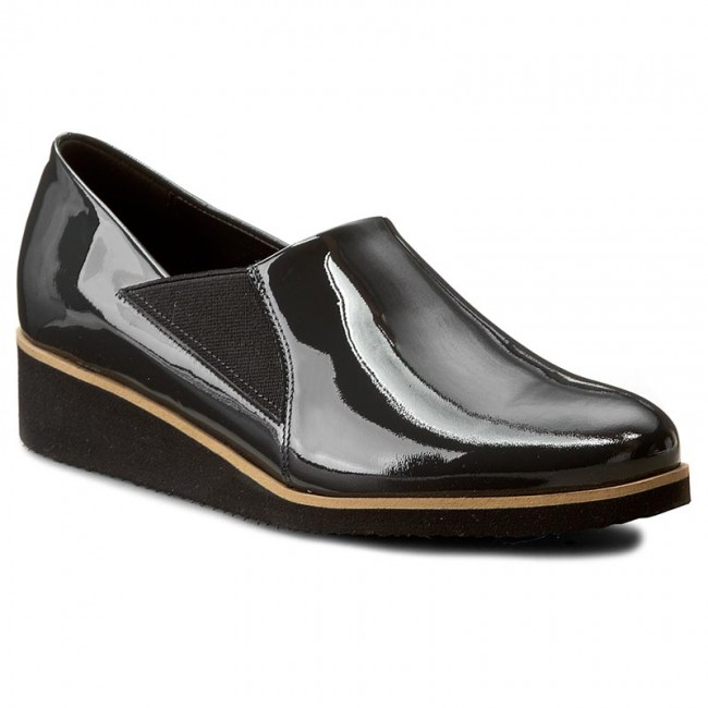 Shoes SAGAN - 2745 Szary Lakier - - Flats - Low shoes - - Women's shoes 51a30e