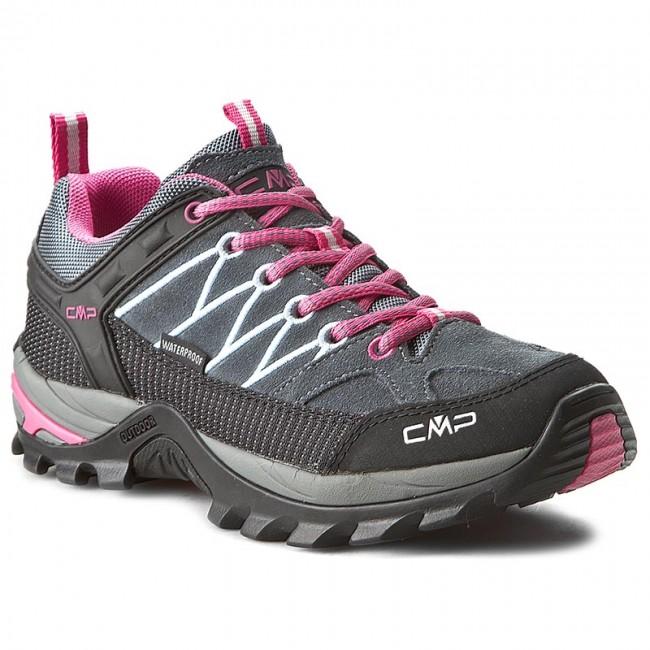 Trekker Boots CMP - Shoe Rigel Low Wmn Treking Shoe - Wp 3Q13246 Grey/Fuxi 103Q - Trekker boots - Low shoes - Women's shoes dd3ad5
