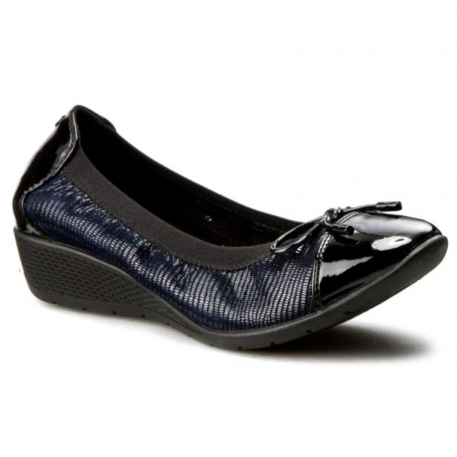 Shoes BAYLA - 1759-3 Navy - shoes Wedge-heeled shoes - Low shoes - - Women's shoes daed72