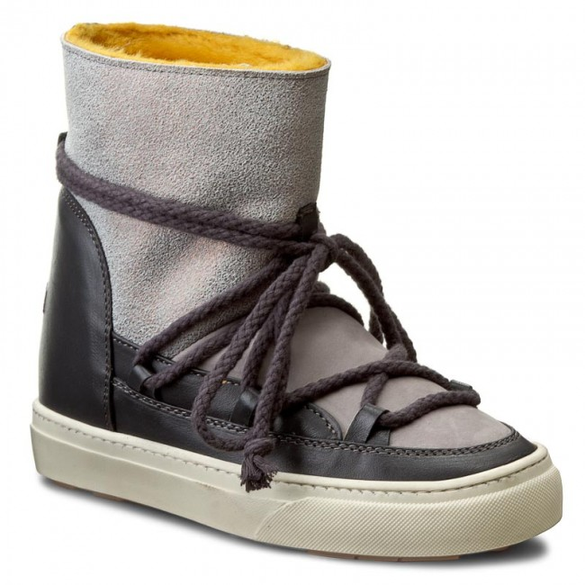Shoes INUIKII - 33550 Inuikii Sneaker Fancy Wedge 33550 - Metallic/Grey - Winter boots - High boots and others - Women's shoes 246f89