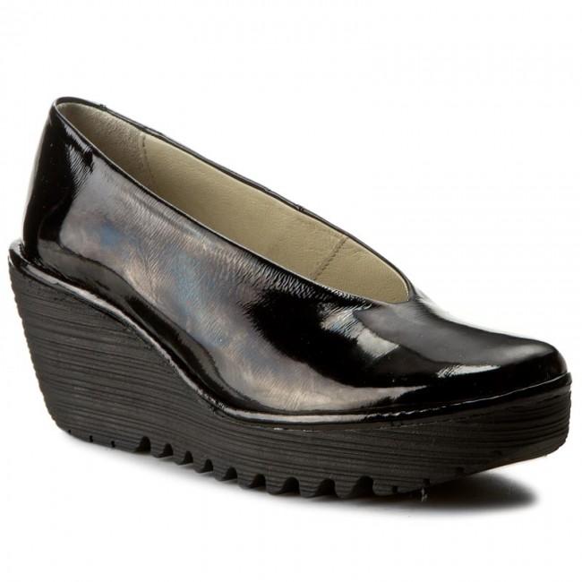 Shoes FLY LONDON - Yaz P500025207 Black - Wedge-heeled shoes Women's - Low shoes - Women's shoes shoes 7a2f5f