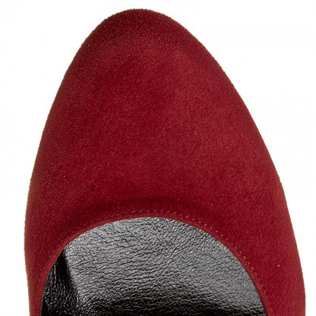 Shoes KOTYL - 5893 Bordo Zamsz - Heels - - - Low shoes - Women's shoes 141898