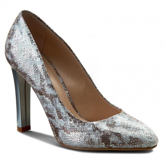 Shoes SOLO FEMME - 45501-14-G45/000-04-00 Wąż Low Srebrny - Heels - Low Wąż shoes - Women's shoes aebfab