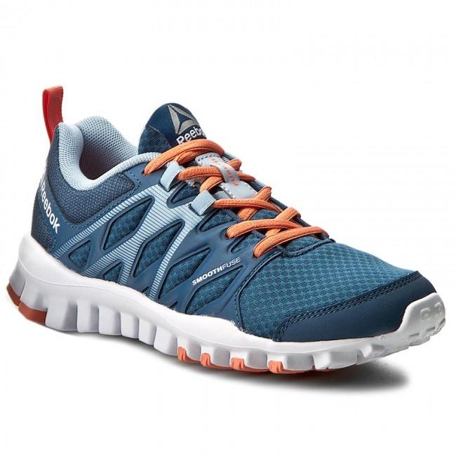 Shoes Reebok BD5061 - Realflex Train 4.0 BD5061 Reebok Blue/Grey/Pink - Fitness - Sports shoes - Women's shoes 676cdb