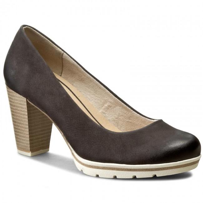 Shoes MARCO TOZZI - 2-22419-28 Black - Antic 002 - Heels - Black Low shoes - Women's shoes 98caf3