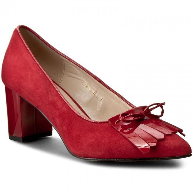 Shoes SAGAN Lak. - 2826 Czerw. Welur./Czerw. Lak. SAGAN - Heels - Low shoes - Women's shoes ee1879