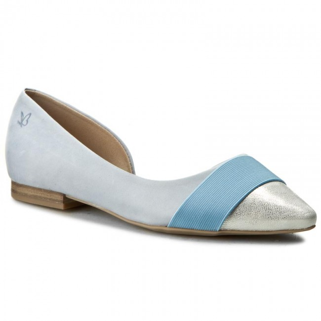 Shoes CAPRICE - 9-22110-28 Flats Lt Blue/Nu.Mul 810 - Flats 9-22110-28 - Low shoes - Women's shoes b22eba
