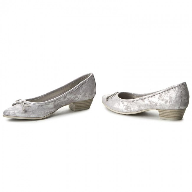 Shoes JANA - 8-22202-28 Grey/Silver Grey/Silver Grey/Silver 212 - Flats - Low shoes - Women's shoes 5608b4
